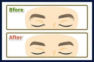 目と眉毛の距離を少し狭めたい方