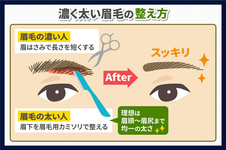 濃く太い眉毛の整え方