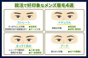 【メンズ】就活の時に好印象を与える眉毛とは