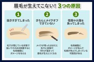 何故、眉毛が生えてこないのか?原因と対処法について(1)