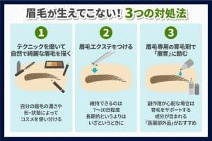 何故、眉毛が生えてこないのか?原因と対処法について(2)